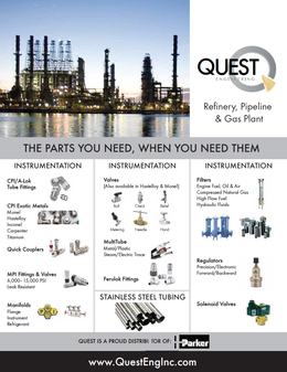 Refinery Gas Plant Pipeline Quest